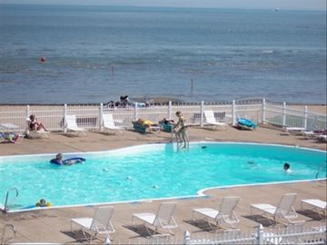 Port Clinton condo rental - Beautiful Sunsets, Pool With Large Sandy and Private Beach