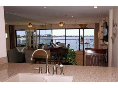 Remodeled kitchen is open to living room & view, so you will never miss a sunset