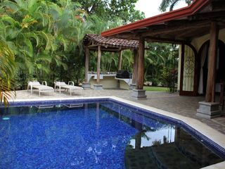 Playa Hermosa house photo - Private pool with BBQ Gazibo, including gas bbq, sink and counter space.