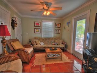 Key West cottage photo - Living room with patio access