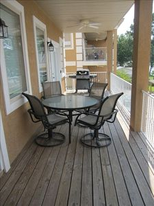 Hot Springs condo rental - Front Porch with Grill!