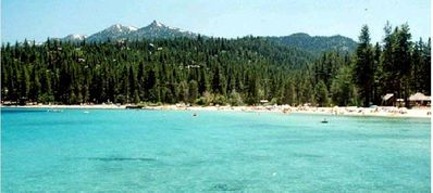 Walk to Meeks Bay, the best beach at Lake Tahoe.  Ski and boat and kyak rentals.