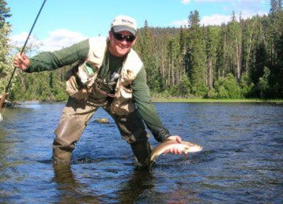 Fun for Dad! Yellowstone fishing is only 4 miles from the house...