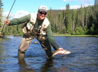 Livingston house photo - Fun for Dad! Yellowstone fishing is only 4 miles from the house...