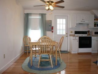 York Beach apartment photo - Spacious dining area is open to the kitchen and living area