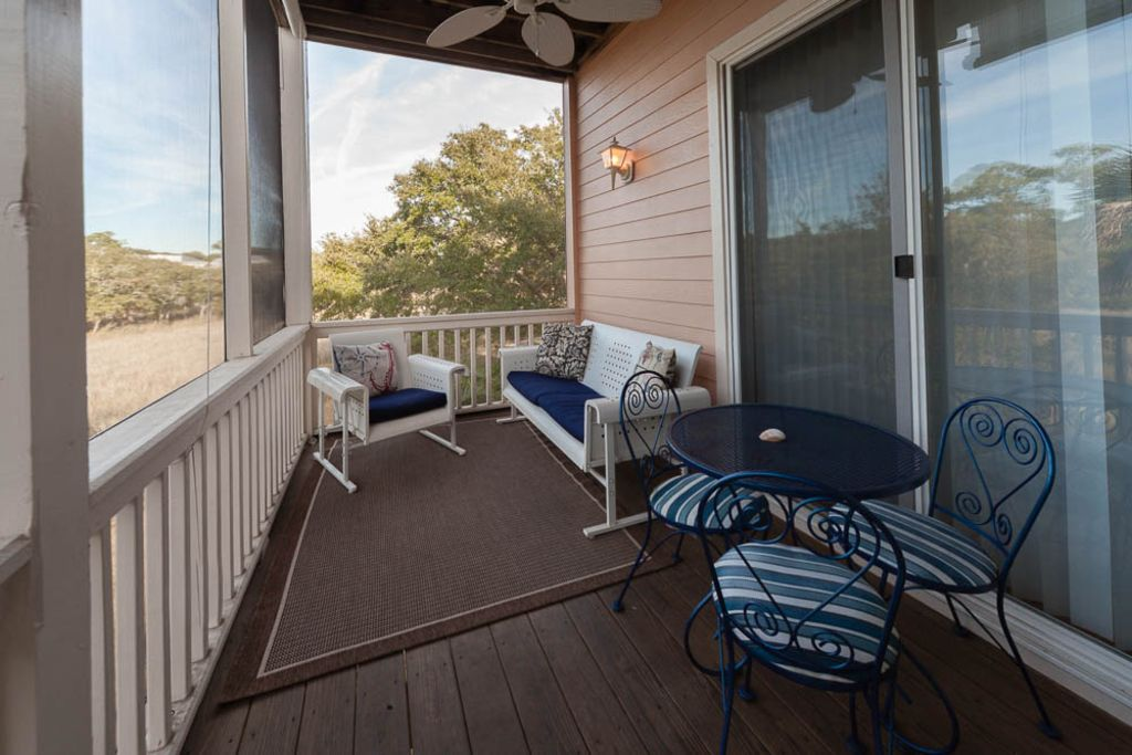 Deck outside of the living room
