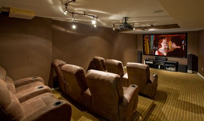 Bridgehampton house rental - screening room