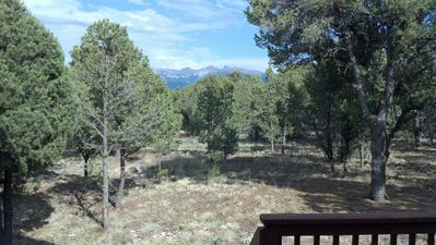 Ridgway house rental - View from deck towards San Juan mountains
