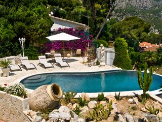 Eze villa photo - Pool with 180º view on the mountain