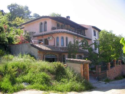 Lanusei, luxury and modern apartment with garden, terraces, porch, fenced.