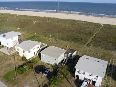 View of Beach House and beach from kitecam