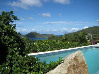 Pool view of Guana Island