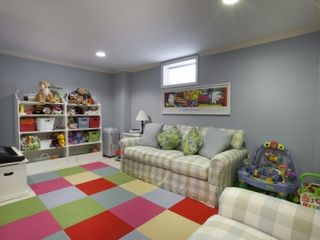 Water Mill farmhouse photo - Playroom/Media room with flatscreen