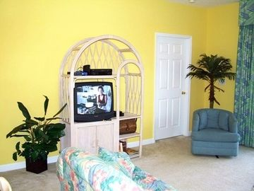 Entertainment area with TV, VCR, DVD and WiFi!