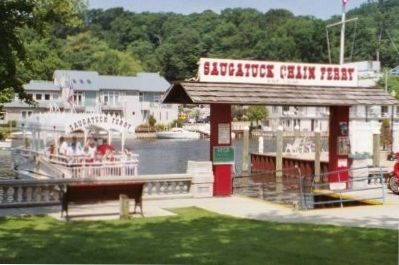 Saugatuck's famous chain ferry can transport you across the Kalamazoo River