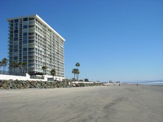Condominium tower and beach front. - Coronado condo vacation rental photo