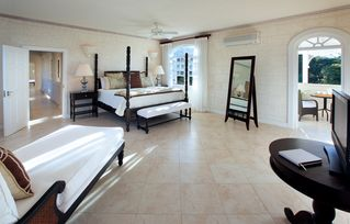 Sandy Lane villa photo - Master bedroom suites upstairs have covered patios, TVs and en suite bathrooms