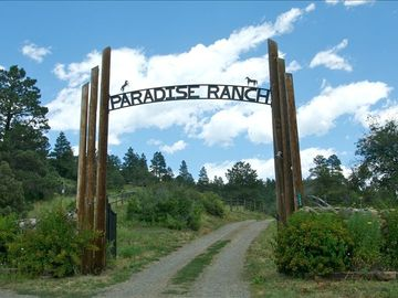 Pagosa Springs lodge rental - Gated Entry located directly off the main highway