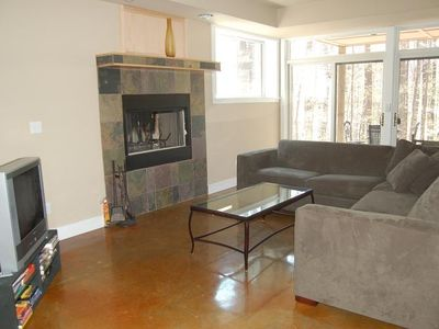 Family Room with second fireplace
