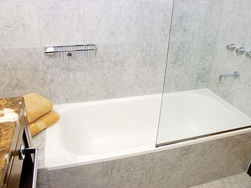 Shower and bathtub combination.