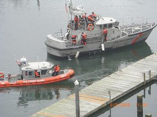 Depoe Bay townhome photo - US Coast Guard in Harbor