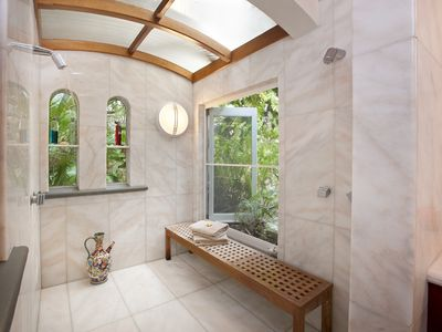 Showcase all marble shower room