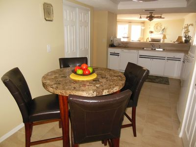 Indian Shores condo rental - Dining in the kitchen