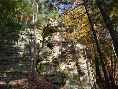 Bluffs in the fall color.
