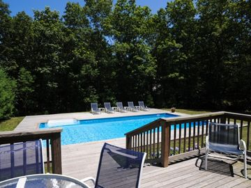 East Hampton house rental - Stunning heated swimming pool surrounded by professionally landscaped grounds.