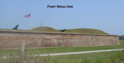 Fort Moultrie 1775-1947 taken from our property
