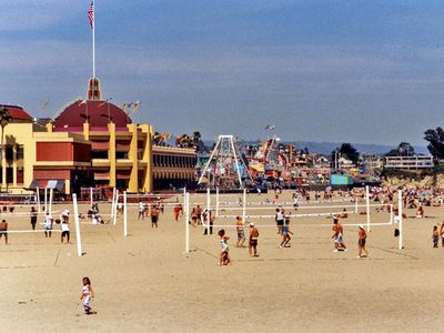 Santa Cruz Beach Boardwalk and Main Beach