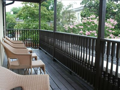 Upstairs balcony - a great place to relax