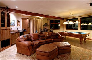 Breckenridge house photo - Rec Room with Gas Fireplace, Billiard table, & Wet Bar