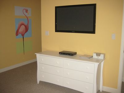 Bedroom #3 - View of dresser and 42 inch flat screen TV