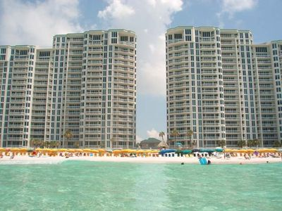 Silver Beach Towers Viewed from the Beach