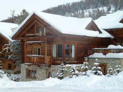 Duplex apartment in solid wood chalet, 5 *