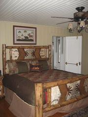 Lake Placid house photo - First master bedroom with king bed