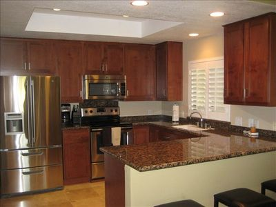 Fully equiped kitchen with new appliances.