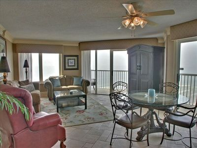 Very spacious Living and Dining Room with an ocean view in very direction!