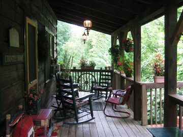 The front porch - great for rocking and swinging and enjoying the view!