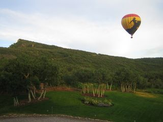 Snowmass house photo - Backyard views with air balloon
