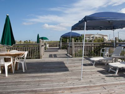 Oceanside deck at Pine Island Beach Club