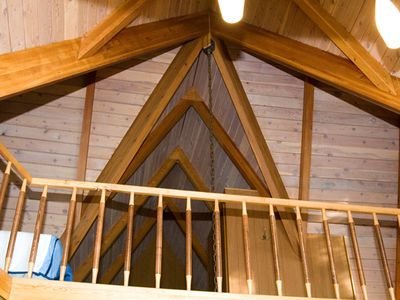 BEAUTIFUL VAULTED CEILINGS IN CABIN