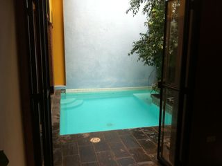 San Juan villa photo - Your own private swimming pool in the open air courtyard with small garden