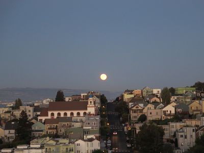 View of Moonrise over Potrero Hill