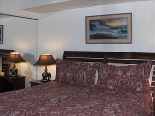 Honokowai condo photo - Comfortable bedroom with all the linens in the West Maui vacation rental.
