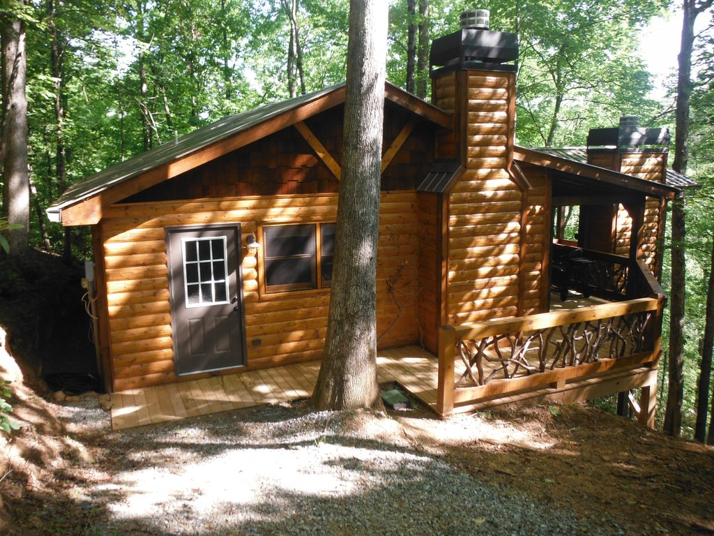 2br 2ba Cabin Secluded Waterfall View Hiking Vrbo