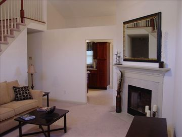 Lexington house rental - Living Room w/ Gas Fireplace