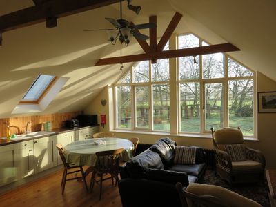 Family friendly accommodation overlooking stream and beautiful garden