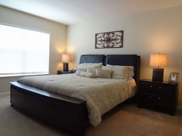 Master Bedroom - King size bed with 32in Television